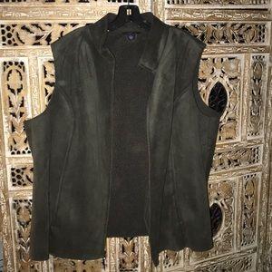 Land End hunter green vest size 3X 24/26